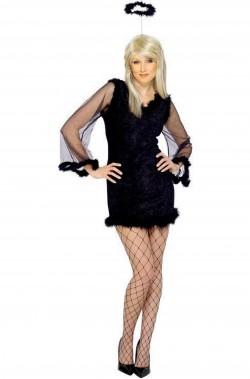 Costume donna Sexy Angelo Nero