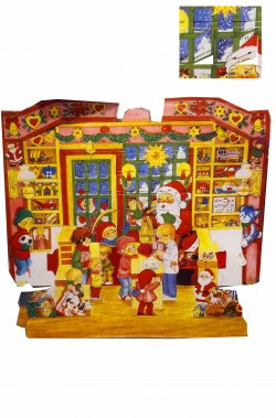 Calendario dell'Avvento Natale perpetuo riutilizzabile in legno