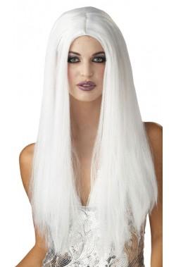 Parrucca donna bianca lunga senza frangia 61cm