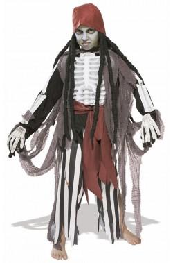 Costume carnevale bambino pirata fantasma completo
