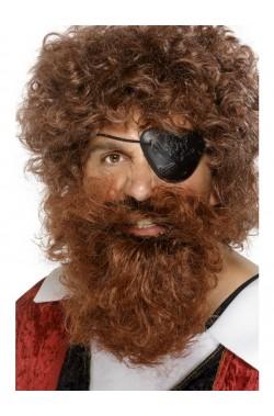 Barba Marrone Pirata Lusso