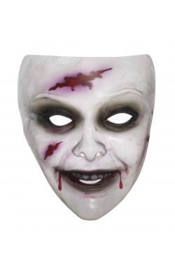 Maschera Zombie Donna Trasparente
