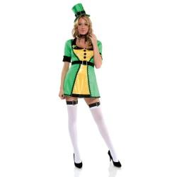Costume donna sexy Elfa/San Patrizio Leprecauno (celtico)