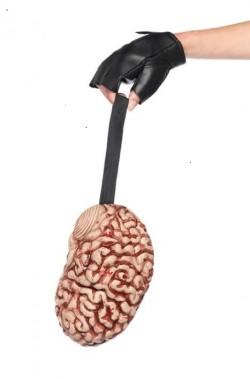 Borsa o Borsetta Horror halloween a forma di cervello