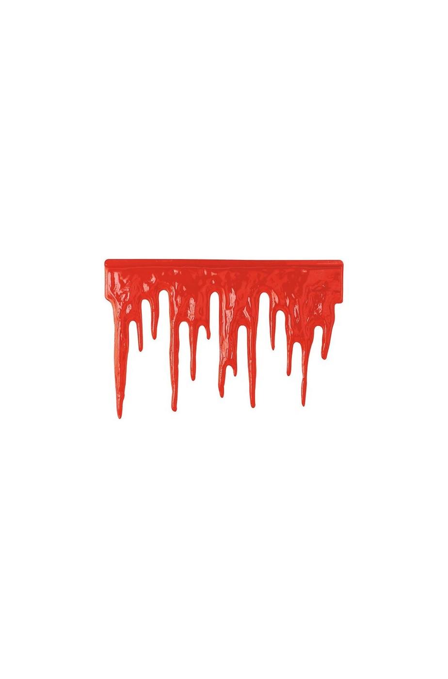 Decorazione Sangue finto che cola in plastica