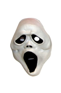 Maschera fantasma scream bambino in PVC