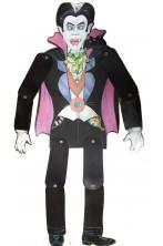 Decorazione Halloween economica in cartoncino dracula con arti snodati