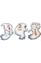 Decorazione Halloween economica in cartoncino tre fantasmi