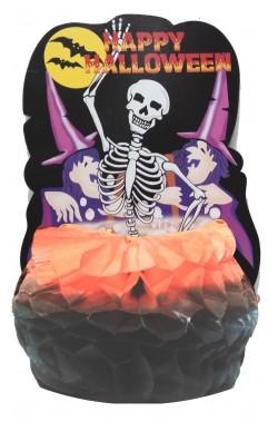 Decorazione Halloween economica 6 teschi con palloncino