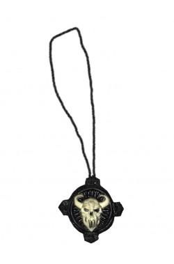 Collana con medaglione horror negromante Sauron