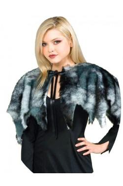 Mantellina Coprispalle in pelliccia finta per cosplay