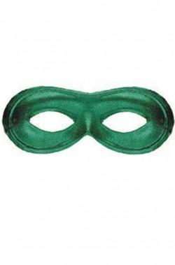 maschera di carnevale stile veneziano domino verde