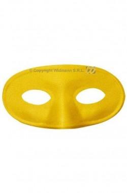 maschera di carnevale stile veneziano domino gialla metal
