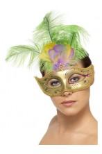 Maschera stile veneziano oro