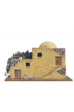 Casa presepe tradizionale palestinese di grande dimensione.Circa 30x20cm.