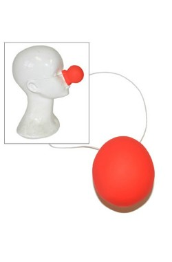 Naso clown in plastica con elastico