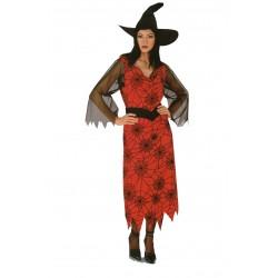 Costume donna strega con cappello e gonna lunga