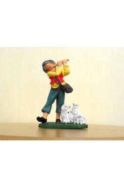 Figurina Presepe in plastica (cm 7 o 10 s.q.) Pastore con flauto