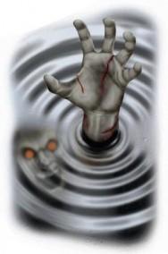 Allestimento Halloween da vetro muro specchio decalcomania mano zombie