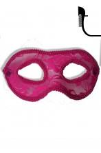 Maschera carnevale stile veneziano rosa