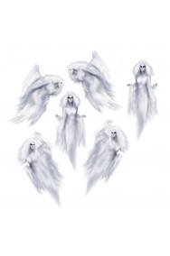 Allestimento Halloween da vetro o specchio Fantasmi ectoplasma