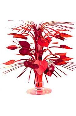 Centrotavola San Valentino mini cascata di cuori circa 22 cm