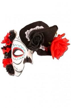 Maschera Teschio di zucchero Dia de los muertos