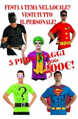 T-shirt DC Comics offerta 5 personaggi leggi il dettaglio
