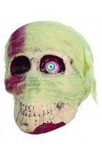 Teschio mummia con bende ed occhio