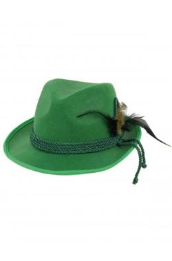 Cappello Tirolese Bavarese Verde Oktoberfest Birra Moretti taglia unica 19 cm circa taglia 59