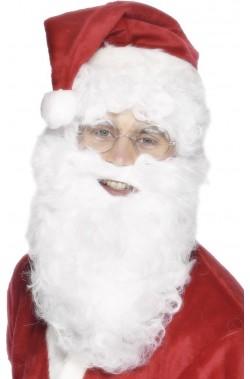 Barba Babbo Natale 28cm riccia con baffo