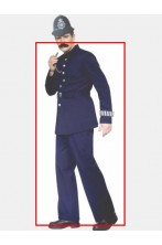 Costume Poliziotto Bobby Inglese Scotland Yard