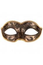 Maschera in Stile Veneziano color bronzo