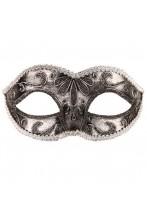 Maschera in Stile Veneziano color argento
