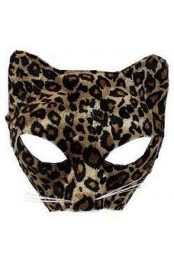 maschera leopardo solo davanti con elastico