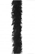 Boa di piume nero gr 55 circa 190 cm