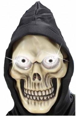 Maschera Teschio Pirata In Lattice a mezzo viso con capelli