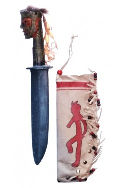 Ascia indiana Tomahawk adulto con punta in pietra