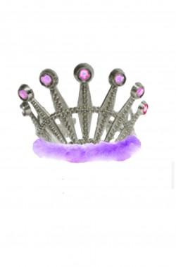 Coroncina principessa a tiara con marabou