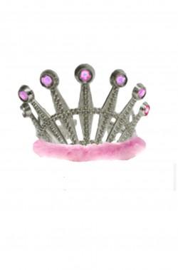 Coroncina principessa a tiara argento con marabou