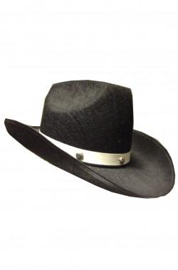 Cappello Cowboy Nero con fascia bianca
