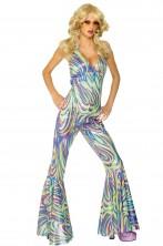 Costume donna anni 70 dancing queen con pantaloni a zampa