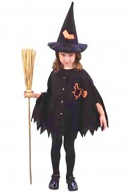 Costume carnevale Bambina Strega 2/4 anni Non include la scopa