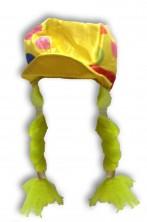 Cappello donna clown con trecce