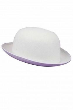 Cappello a bombetta bianco