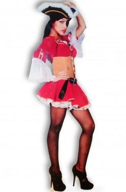 Costume donna sexy pirata anche majorette Lady Oscar ATTENZIONE NON INCLUDE CAPPELLO