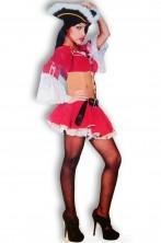 Costume donna pirata sexy anche majorette Lady Oscar ATTENZIONE NON INCLUDE CAPPELLO