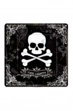 Piatti Party piani carta Halloween Pirati con teschio (18 piatti, 27cm)