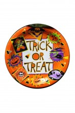 Halloween Party Trick or Treat piatti di carta 20pzx23cm