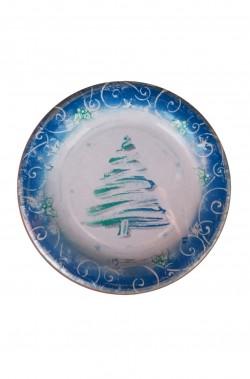 Natale Party Azzurro e Verde Piatti in carta 10pzx18cm